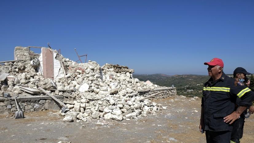 Число пострадавших в результате землетрясения на Крите увеличилось до 20