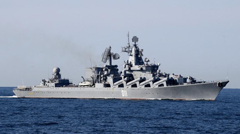Крейсер «Варяг» и подлодка «Омск» провели стрельбы у берегов Камчатки
