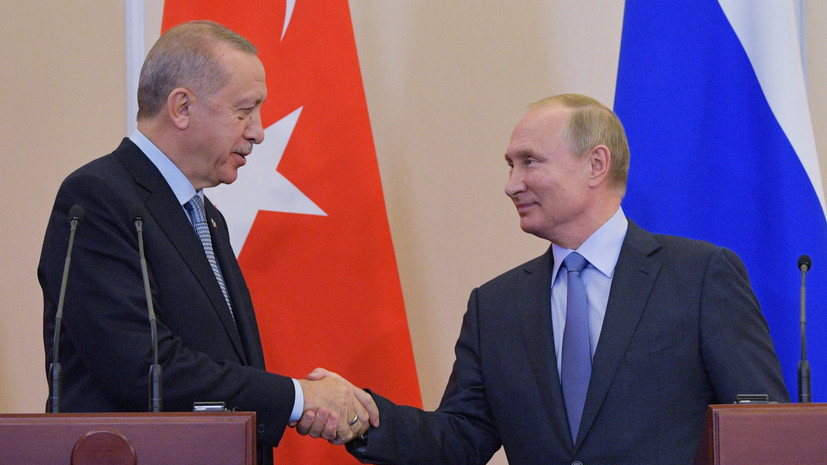 Путин оценил сотрудничество с Турцией по ситуации в Сирии и Ливии