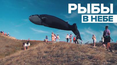 Летающий кит и небесные рыбы: в Крыму прошёл фестиваль воздушных змеев