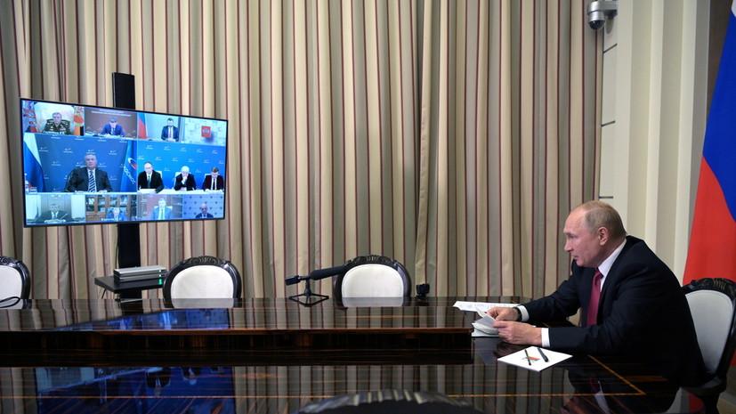 Путин поручил  разработать меры по созданию условий работы детских лагерей