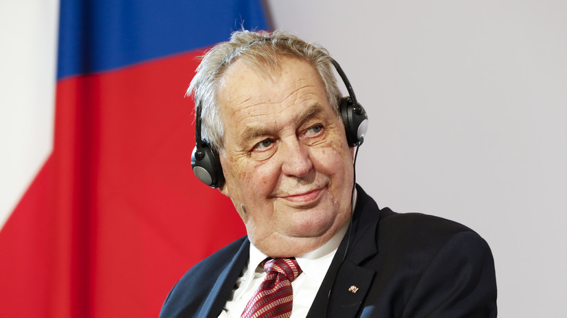 Президент Чехии Земан госпитализирован