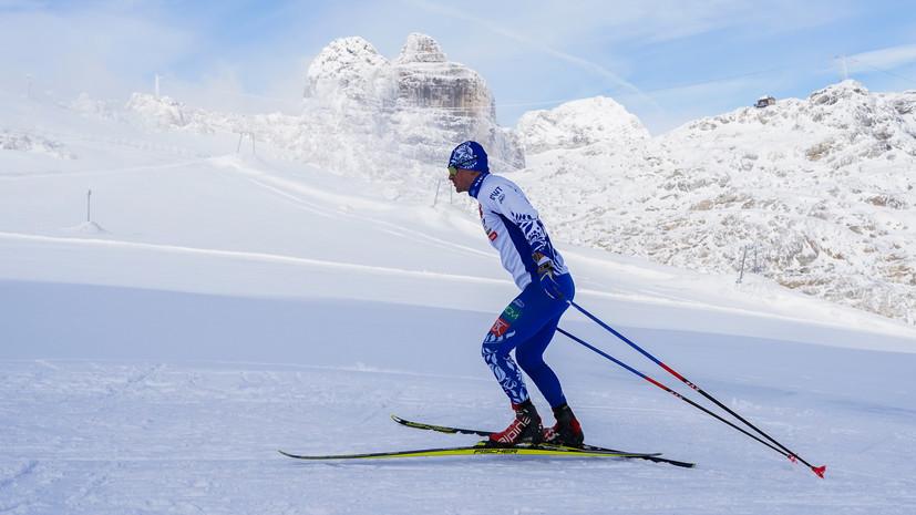 Максим Вылегжанин на трассе ледника Дахштайн