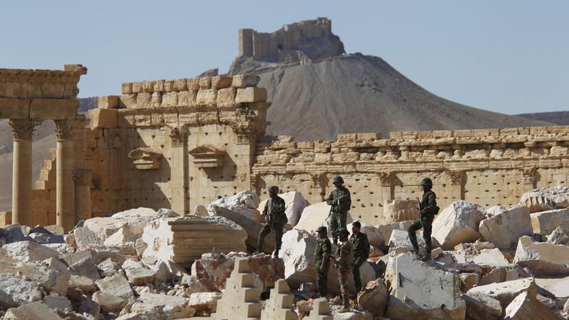 Армия САР сообщила о гибели одного военнослужащего при обстрелах в Пальмире