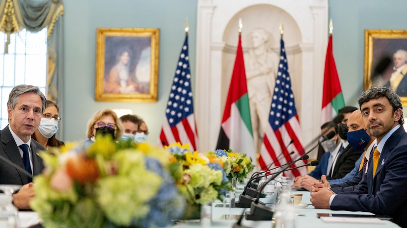 Госсекретарь США провёл переговоры с главой МИД ОАЭ