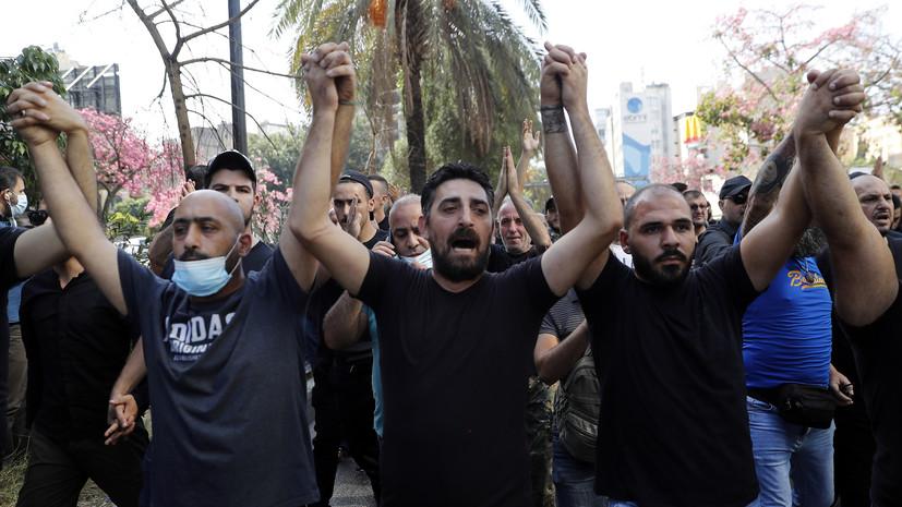 Один человек погиб при обстреле демонстрантов в Бейруте
