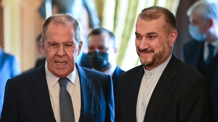 Главы МИД России и Ирана обсудили ситуацию вокруг СВПД