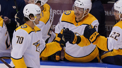 Гол и передача Афанасьева помогли Нэшвиллу разгромить Тампу в предсезонке НХЛ
