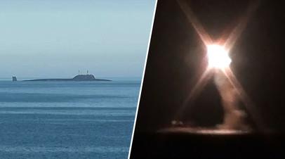 Испытательные пуски гиперзвуковой ракеты «Циркон»  с АПЛ «Северодвинск» в Белом море