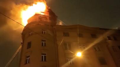 Пожар в жилом доме в Санкт-Петербурге  видео