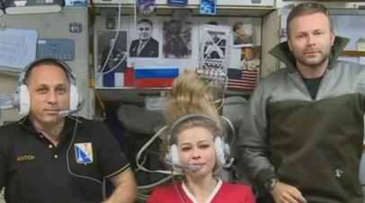 Экипаж МКС поужинал с Пересильд и Шипенко в американском модуле