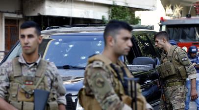 В Ливане задержали девятерых подозреваемых в причастности к стрельбе в Бейруте