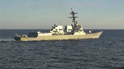 ВМС США прокомментировали инцидент с эсминцем Chafee в Японском море