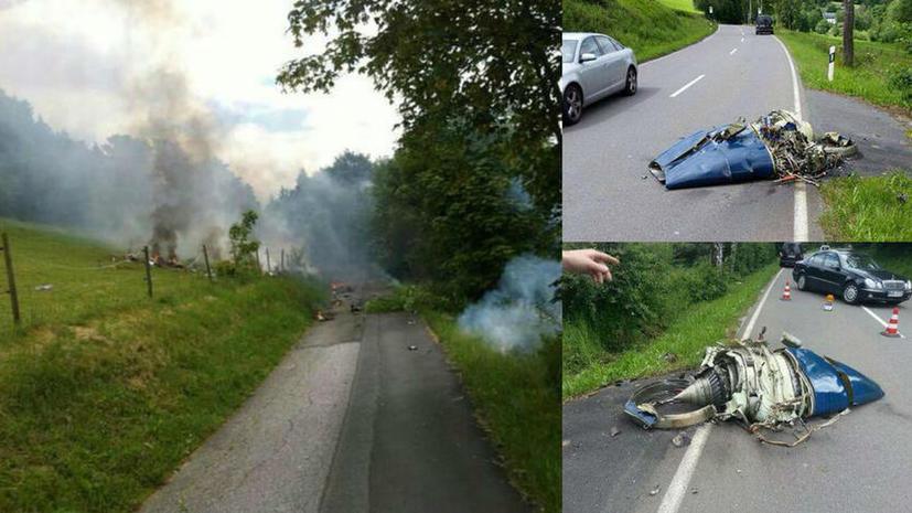 Истребитель столкнулся с гражданским самолётом в небе над северной Германией, два человека пропали без вести