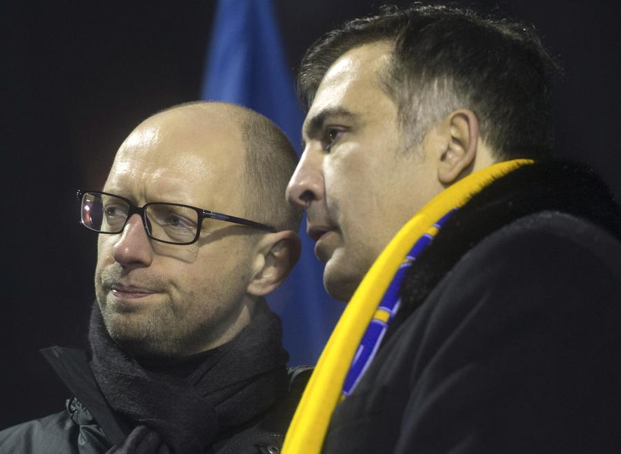 Коломойский преткновения: между Арсением Яценюком и Михаилом Саакашвили разгорелся скандал