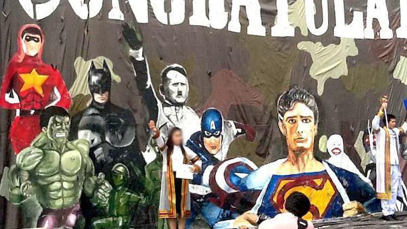 Тайские студенты поздравили выпускников с помощью баннера с Гитлером