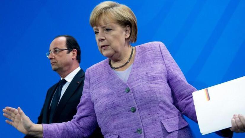 Меркель и Олланд обсудят в Брюсселе скандал вокруг американской прослушки