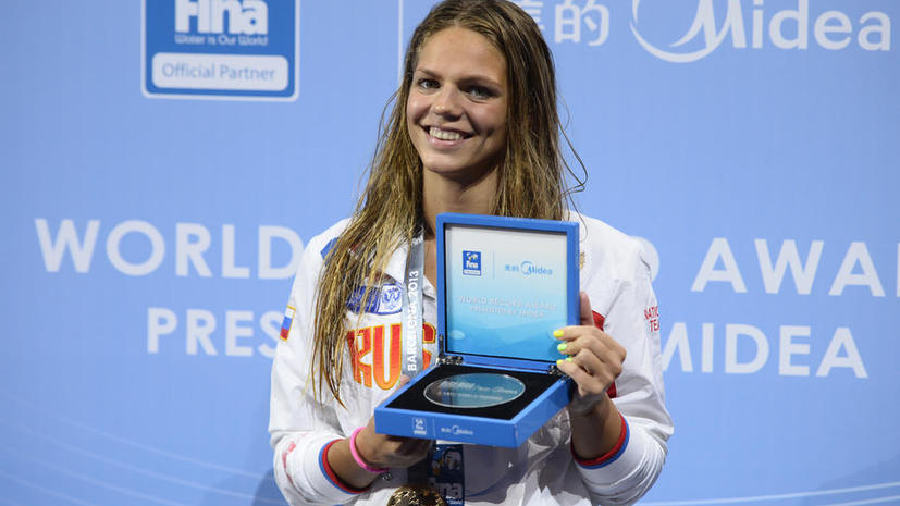 Юлия Ефимова завоевала «золото» ЧМ на дистанции 50 м брассом