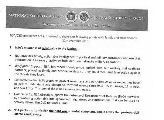 Руководство АНБ разработало для своих сотрудников рекомендации на День благодарения