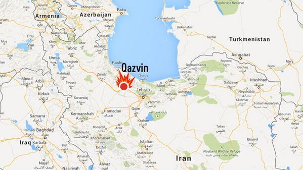 Мощный взрыв прогремел в городе Казвин на севере Ирана