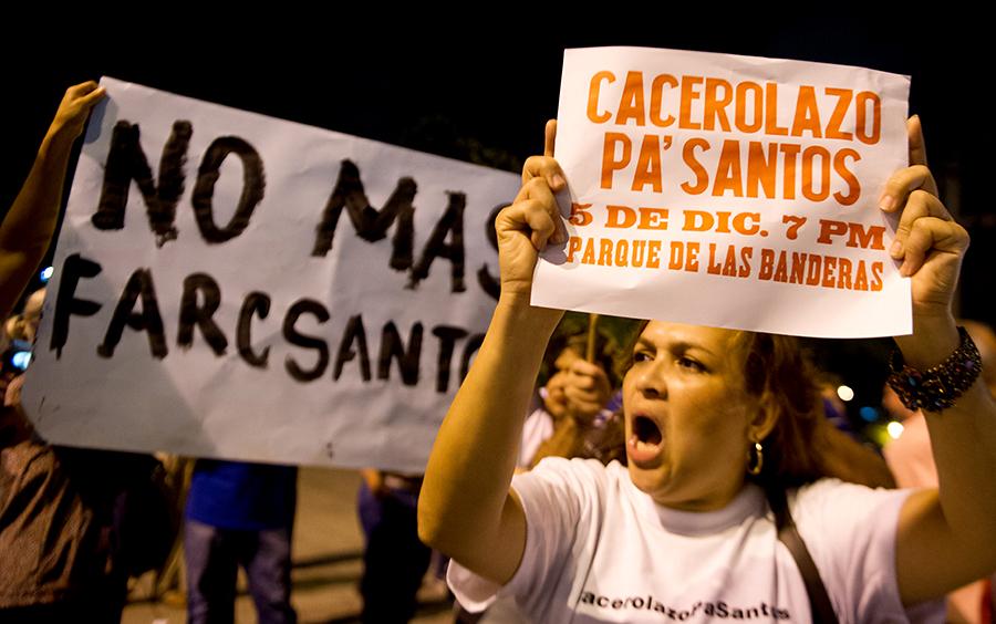 Колумбийцы вышли на «кастрюльную» забастовку