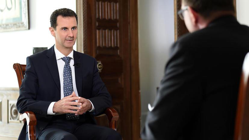 Башар Асад: Россия и Иран создали условия, чтобы сирийцы могли сами определить свою судьбу