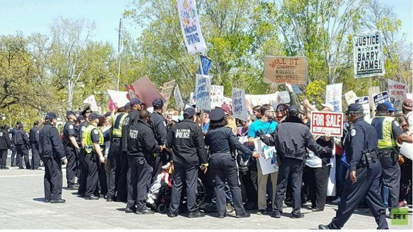 Третий день «Демократической весны»: аресты протестующих в Вашингтоне продолжаются