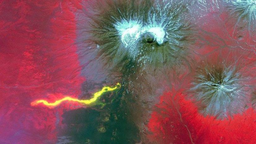 Камчатские вулканы угрожают безопасности полетов