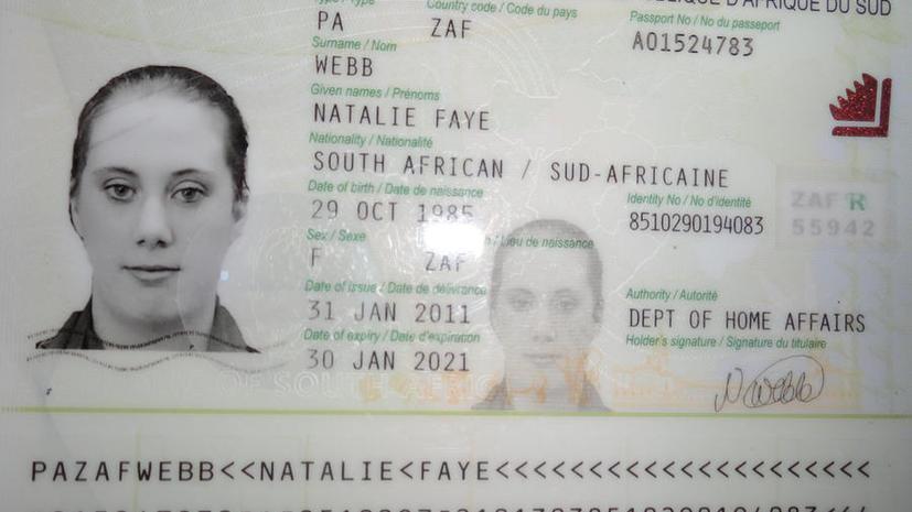 «Белая вдова» обзавелась поддельными паспортами ЮАР для себя и своих детей