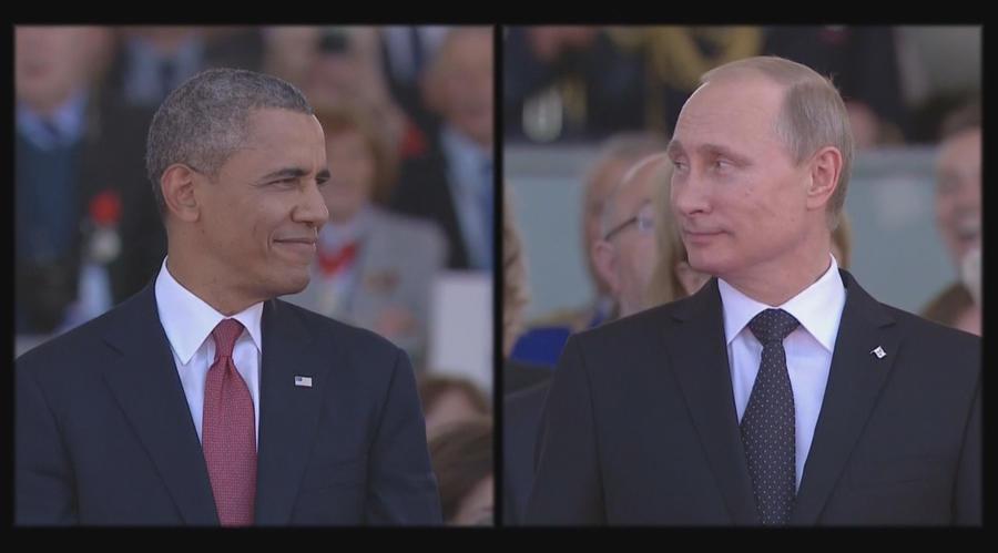 Владимир Путин и Барак Обама высказались за прекращение кровопролития на Украине