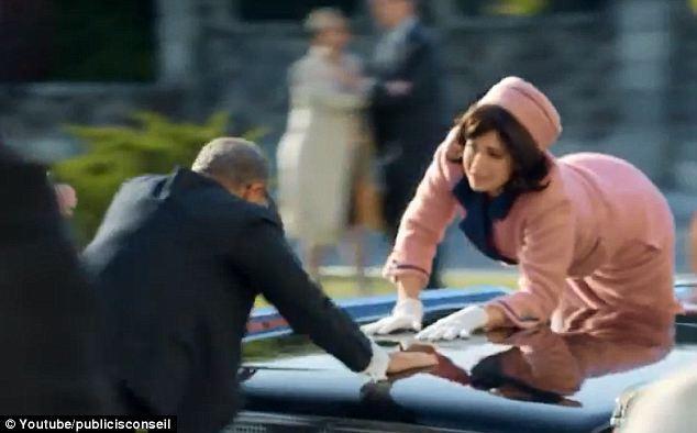 Американцев разозлил французский рекламный ролик, высмеивающий убийство Кеннеди