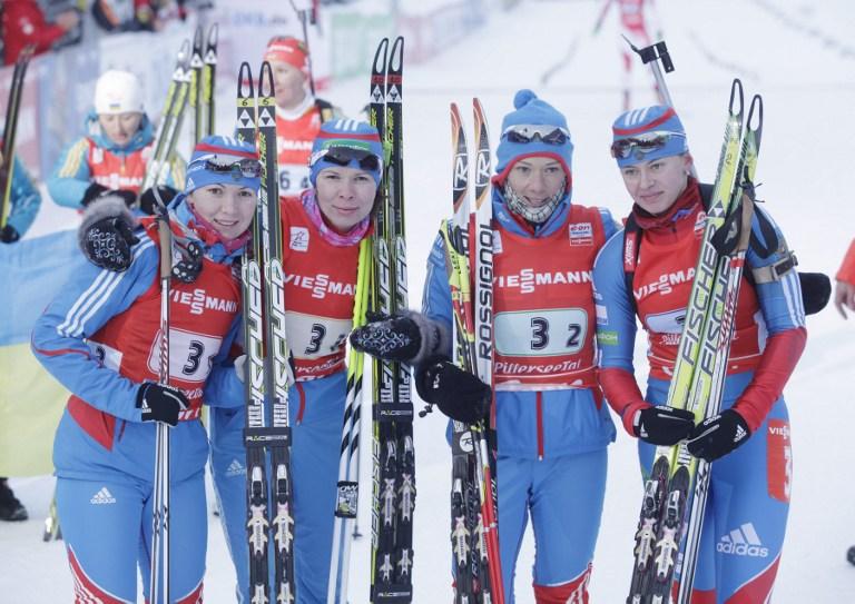 Россияне завершили второй этап Кубка мира в Хохфильцене подиумами в эстафетных гонках