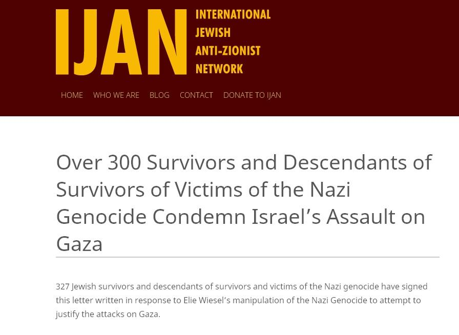 Сотни переживших Холокост евреев осудили Израиль за «резню» в секторе Газа