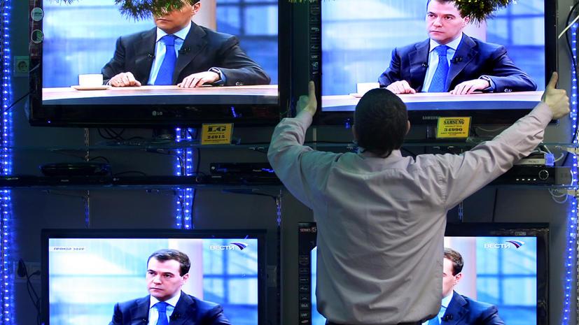 Дмитрий Медведев в прямом эфире ответит на вопросы журналистов пяти каналов