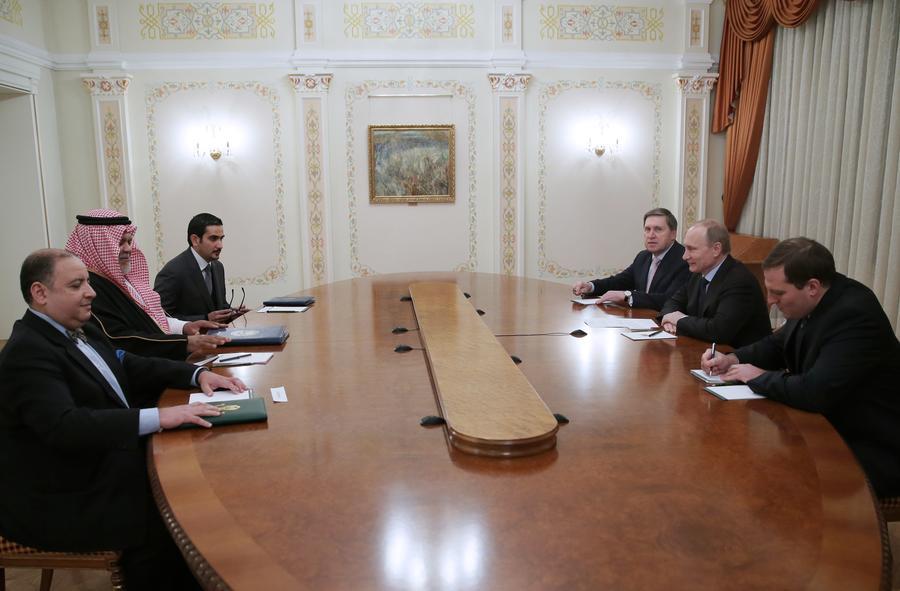 Владимир Путин обсудил с главой разведки Саудовской Аравии ситуацию вокруг Сирии и подготовку к «Женеве-2»
