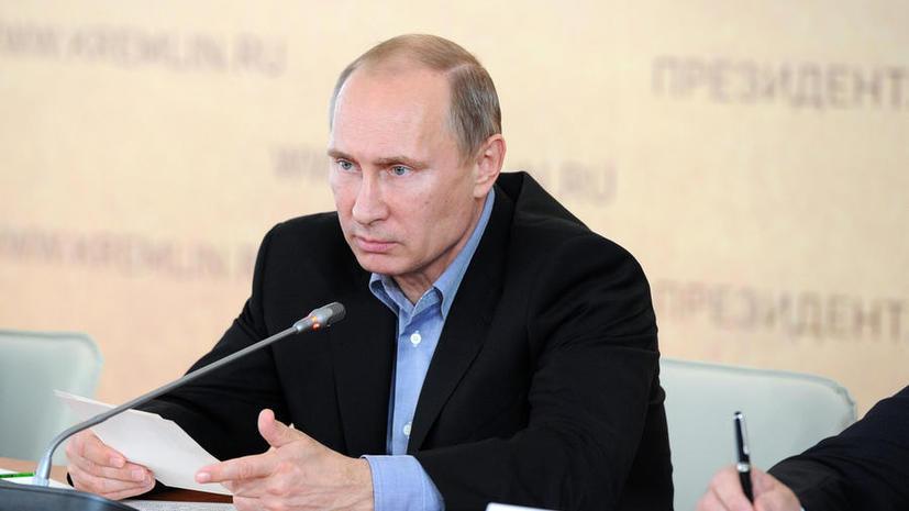 Путин распорядился ускорить выдачу помощи пострадавшим от паводка регионам