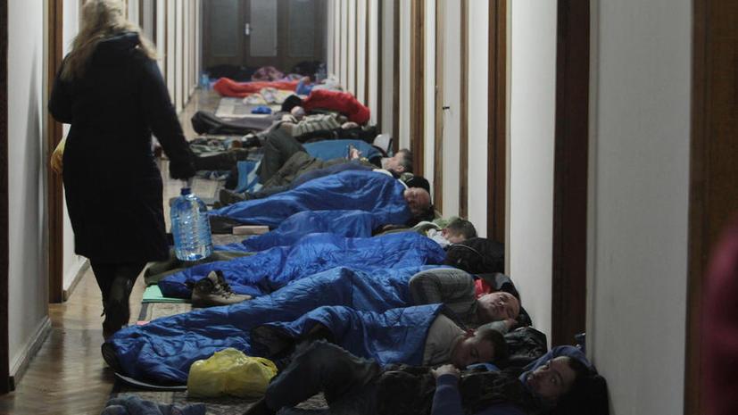 В захваченном Доме профсоюзов в Киеве произошёл взрыв, пострадавший находится в реанимации
