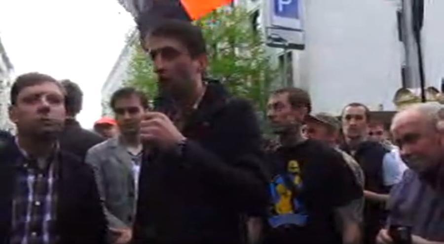 Радикалы из «Правого сектора» провели пикет администрации президента 29 апреля