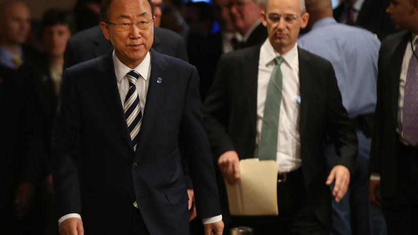 Пан Ги Мун: Резолюция Совбеза ООН по сирийскому химоружию должна носить принудительный характер