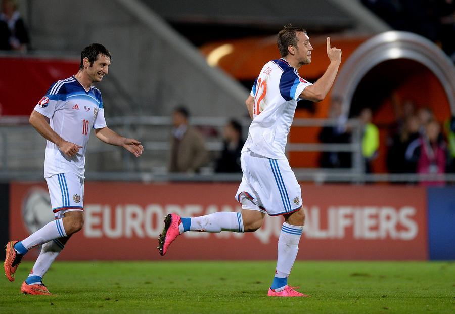 Сборная России по футболу обыграла команду Лихтенштейна в отборочном матче ЧЕ-2016 со счётом 7:0