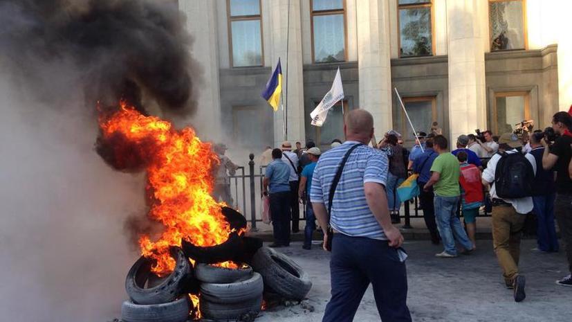 Столкновения у Верховной рады в Киеве 21 мая
