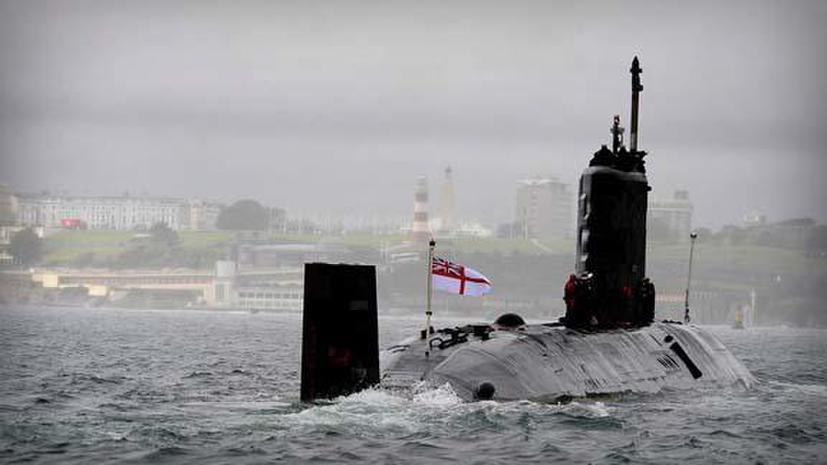 СМИ: Британская подлодка столкнулась со льдиной при слежке за российскими кораблями