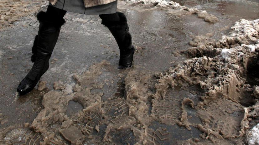 Москва на три дня оказалась во власти снега и дождя