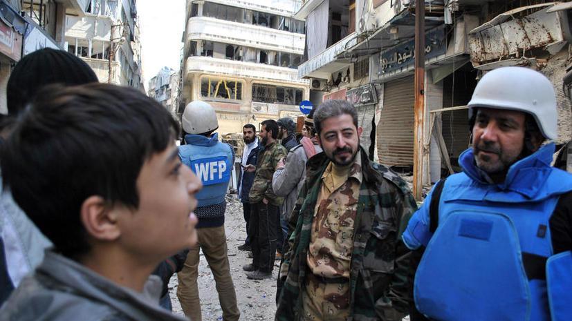 ООН: Помощь жителям Хомса будет продолжаться, несмотря на обстрел конвоя