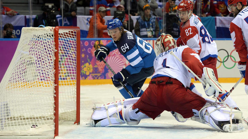 Российские хоккеисты уступили финнам в четвертьфинале турнира Игр в Сочи