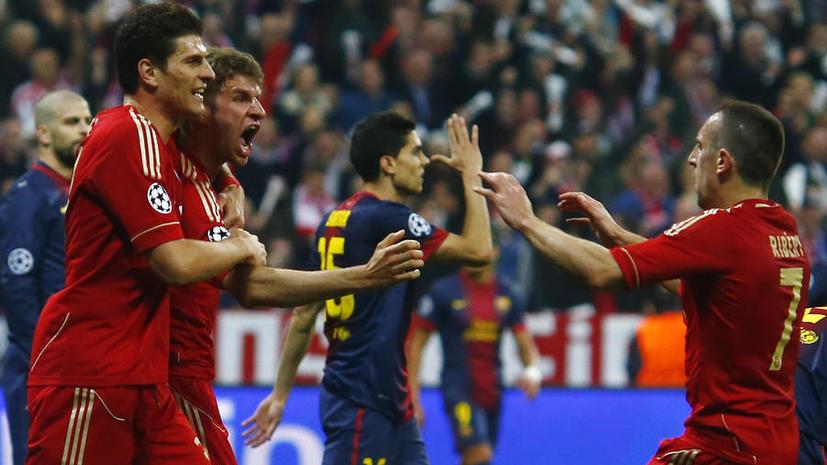 Лига чемпионов: «Бавария» разгромила «Барселону» в первом полуфинале