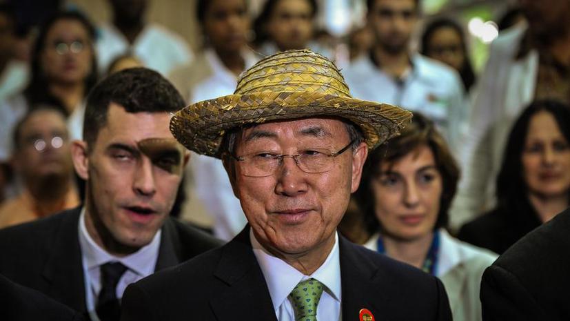 Генеральный секретарь ООН встретился в Гаване с Фиделем Кастро