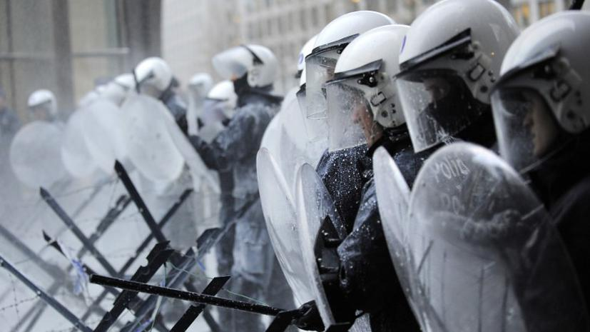 Протесты в Бельгии: злые молочники атакуют Брюссель