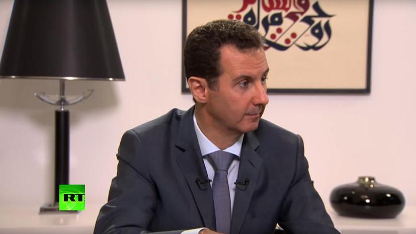 Башар Асад: Запад одним глазом оплакивает беженцев, а другим смотрит в прицел автомата