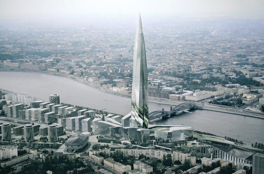 Газпром потерял на Охта-центре 7,2 млрд рублей